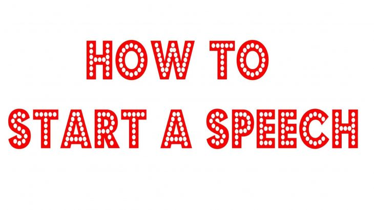 Ways To Start A Best Speech